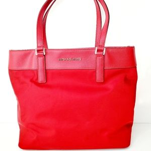 Michael Kors Red Canvas Handbag